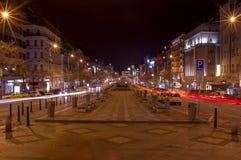Wenceslas Square in Prague. Wenceslas Square. Prague at night Stock Images