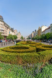 Wenceslas Square in Prague Stock Images
