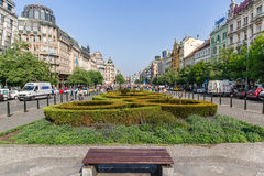 Wenceslas Square in Prague Stock Photos