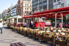 Wenceslas Square in Prague Royalty Free Stock Image