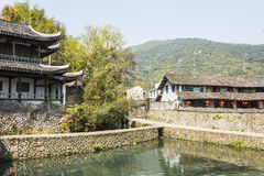 Wenchang pavilion and Old folk house Stock Photo