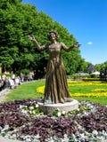 Wenche Foss雕象在奥斯陆 图库摄影