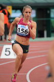 Wenda Nel - 400 meters hurdles Royalty Free Stock Photography