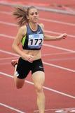 Wenda Theron - 400 metres hurdles in Prague 2012 Royalty Free Stock Photos