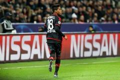 Wendell κατά τη διάρκεια του παιχνιδιού UEFA Champions League μεταξύ Bayer 04 Λ Στοκ εικόνες με δικαίωμα ελεύθερης χρήσης