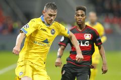 Wendell Bayer Leverkusen and Dmitry Baga BATE Borisov Royalty Free Stock Photo