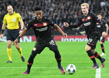 Wendell. Football players pictured during UEFA Champions League Group E game between Tottenham Hotspur and Bayer Leverkusen on November 2, 2016 at Wembley Royalty Free Stock Photos