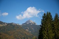 Wendelstein,山在拜里施策尔,巴伐利亚 免版税库存照片