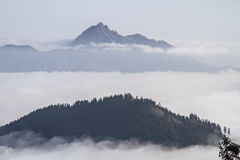 Wendelstein above mist Royalty Free Stock Photo