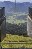 Wendelstein cable car Royalty Free Stock Image