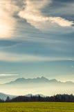Wendelstein da montanha e cumes bávaros Foto de Stock Royalty Free