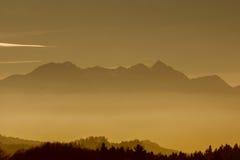 Wendelstein de la montaña y montañas bávaras Foto de archivo libre de regalías