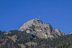 Wendelstein nas montanhas de Mangfall Fotos de Stock Royalty Free