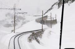 The Wendelstein Rack Railway in winter Royalty Free Stock Images