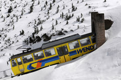The Wendelstein Rack Railway in winter Royalty Free Stock Photos