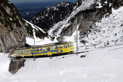 The Wendelstein Rack Railway in winter Royalty Free Stock Images