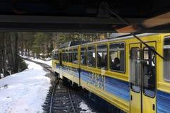 The Wendelstein Rack Railway in winter Stock Image