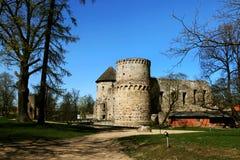Wenden Order Castle i närheten av Gaujaen N Arkivfoton
