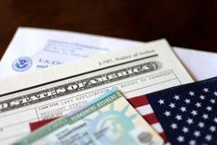 Wenden Sie Green Card an lizenzfreies stockbild