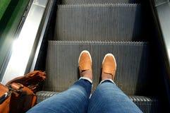 Wendepunkt ist unter Ihren Füßen Stockbild