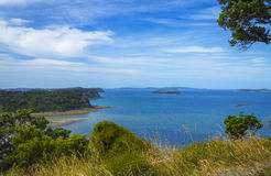Wenderholm Beach Auckland New Zealand; Regional Park. View to surrounding islands Stock Photo