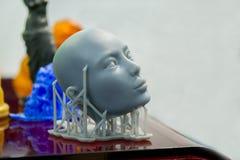 Wendet das photopolymer ein, das auf einem Drucker 3d gedruckt wird Lizenzfreies Stockbild