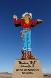 Wendover. Sign in the gambling town of Wendover between Utah and Nevada Stock Image