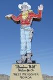 Wendover zal Cowboy welkom heten Royalty-vrije Stock Afbeelding
