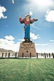 Wendover zal het klassieke teken van de neoncowboy welkom heet toeristen in Wendover Nevada stock afbeeldingen