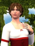 Wendy - Beautiful Medieval Maiden (Medium Close-Up) Royalty Free Stock Photography