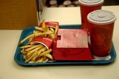 WENDY fasta food menu Zdjęcie Stock