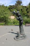 Wendy and Her Attendants, Dunedin Botanic Garden. Wendy and Her Attendants is a sculpture by Cecil Thomas in Dunedin Botanic Garden, Dunedin, Otago, South Island Stock Image