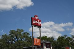 WENDYS CHAIN RESTUARANT IN GAINESVILLE FLORIDA. /florida/USA./ 01 May. 2019/  Wendys chain restauran in gainesville in Florida United states of Amrica stock images