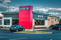 Wendys fast food restaurant exterior Stock Photo