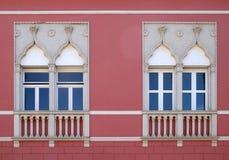 Weneccy okno na historycznym domu w Novigrad, Chorwacja zdjęcie stock