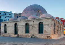 Wenecja bulwar w starym schronieniu Chania Grecja Zdjęcie Royalty Free