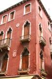 Wenecja, czerwony pałac obraz stock