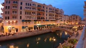 Wenecja Doha kantora most zdjęcie wideo