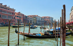 Wenecja gondola kanał grande Obraz Stock