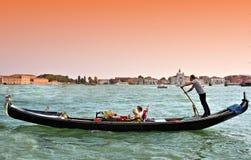 Wenecja gondoli laguna s marconi zdjęcie royalty free