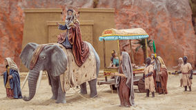Wenecja Hiszpania, Grudzień, - 02, 2016: Narodzenie Jezusa scena Zdjęcie Royalty Free