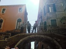 Wenecja i gondolieres Fotografia Stock
