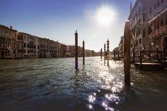 Wenecja, iskrzasta woda na kanał grande Fotografia Royalty Free