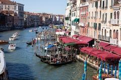Wenecja kanał grande obraz stock
