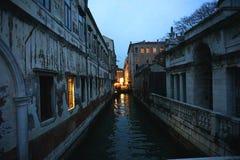 Wenecja kanał przy światłem słonecznym Fotografia Stock