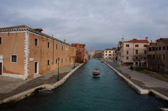 Wenecja kanał w Castello okręgu Zdjęcie Stock