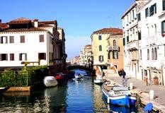 Wenecja kanał Zdjęcie Stock