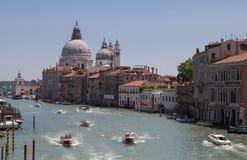 Wenecja kanał grande Fotografia Royalty Free