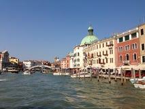 Wenecja kanały Fotografia Royalty Free