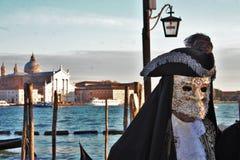 Wenecja karnawał, portret maska podczas Weneckiego karnawału w całym mieście tam, jest cudownymi maskami fotografia stock